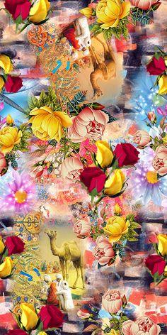 Stone Wallpaper, Galaxy Wallpaper, Flower Wallpaper, Wallpaper Backgrounds, Fabric Print Design, Alphabet Letters Design, Room Wall Painting, Madhubani Art, Fantasy Paintings