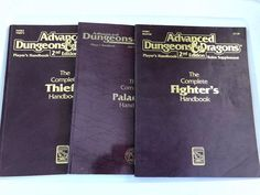 LOT 3 Complete THIEF's FIGHTER's Paladin's Handbook AD&D Dungeons Dragons  | eBay