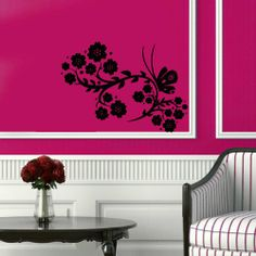 Wall Vinyl Decal Sticker Art Design Chinese Style Floral Ornament Pattern with Butterfly Room Nice Picture Decor Hall Wall Chu674 Thumbs up decals http://www.amazon.com/dp/B00J9RY3WQ/ref=cm_sw_r_pi_dp_-uSItb1CTAJACZ2X