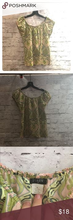 J Crew Blouse A beautiful top with a floral type design that is guaranteed to look great and bee cool in the warm weather. J Crew Tops Blouses