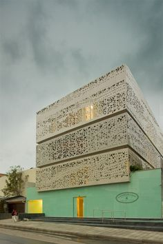Perforated Facade - Chairama, Bogota: