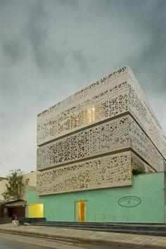 Perforated Facade - Chairama, Bogota: