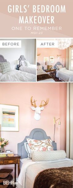 When it comes to feminine style, this DIY girls' twin bedroom makeover has it all. Kevin, of Thou Swell, shows you how to achieve this glamorous home decor look using BEHR Paint in One To Remember. Add a millennial pink shade to the interior design of your home with this chic and modern paint color palette.