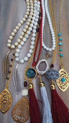 Burgundy tassel necklace. Bohemian tassel by AllAboutEveCreations