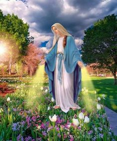 My Lady Thank you for Praying for me Pictures Of Christ, Religious Pictures, Religious Art, Blessed Mother Mary, Blessed Virgin Mary, Rosary Catholic, Catholic Saints, Mama Mary Photo, Image Jesus