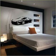 bedrooms with ferrari mural - Google Search