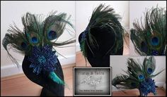 bespoke fascinator was commissioned for a lady who love peacocks and was attending the races at ascot