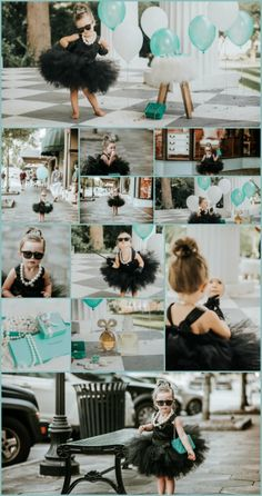 Two year old girl birthday session  Breakfast At Tiffanys Theme