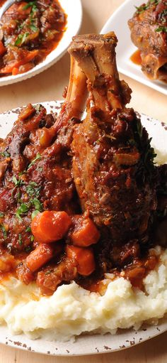 The absolute best mouthwatering slow cooked lamb recipe! These fall of the bone lamb shanks are slowly simmered with fresh rosemary and garlic. Such a classic family favorite dinner! Roast Lamb Shank Recipe, Persian Lamb Shank Recipe, Roasted Lamb Shanks, Braised Lamb Shanks, Best Lamb Recipes, Slow Cooker Lamb Recipes, Lamb Shanks Slow Cooker, Lamb Dinner, Rind