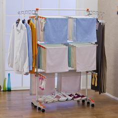 Foldable Heavy Duty and Compact Storage Drying Rack System - $54.99 - Might be good if I ever started doing craft shows.