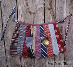 Recycle and upcycle old neckties to make a DIY apron. Really cute and unique!