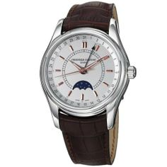 Frederique Constant Men's FC330V6B6 Index Brown Strap Moon Phase Watch Frederique Constant. $1272.50. Moon phase display. Water-resistant to 100 M (330 feet). Sapphire crystal. Stainless steel case. Swiss automatic movement
