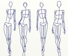 Fashion body free templates - corpi dei figurini moda da disegnare