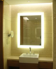 Bathroom Mirrors Backlit backlit mirrors for bathrooms - google search | lighting