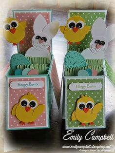 Easter Card-in-a-box cards for my kids teachers.  See it at Tiny Kiwi Cards.