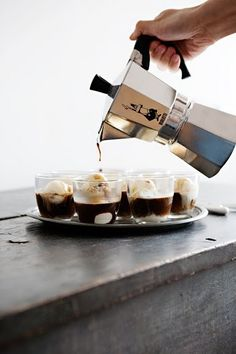 Coffee - I woulda never thought to pour coffee over ice cream!