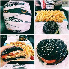 Hoy probamos la rica #whopper #halloween con pan negro!! #burgerking by anekenet