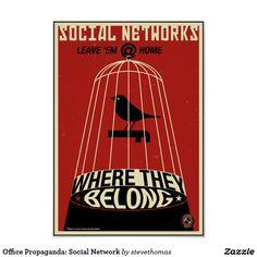 Office Propaganda: Social Network Poster