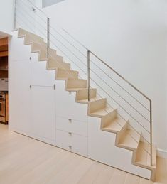Easy And Cheap Ideas: Minimalist Living Room Ideas Coffee Tables minimalist home decoration decorating ideas.Minimalist Living Room Ideas White Kitchens minimalist bedroom gold home. Staircase Storage, Stair Storage, Staircase Design, Modern Minimalist Bedroom, Minimalist Home Decor, Minimalist Interior, Minimalist Living, Open Plan Apartment, Escalier Design