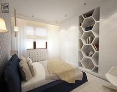 Sypialnia styl Skandynawski - zdjęcie od art inside - studio projektowania wnętrz i ogrodów