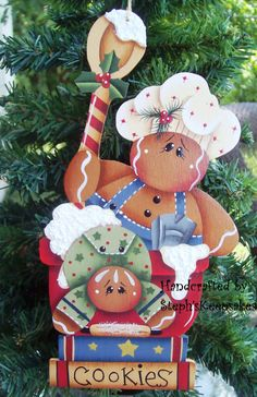 Wood Gingerbread Man ornament