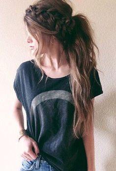 Sezonun Trend Saçı: Yarım Toplanan Örgü Saçlar... /29 - Güzellik - Mahmure Foto Galeri