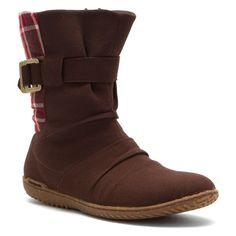 Patagonia Women's Kula Ankle Boots Espresso Plaid Size 10.0M