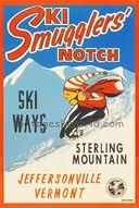 Discover Vintage Ski World's Smugglers Notch Vermont Vintage Art Deco Ski Poster and many other kinds of vintage posters. Available in three sizes: 20 x 30 in. Vermont Skiing, Vermont Ski Resorts, Best Ski Resorts, Stowe Vermont, Auckland, Ski Lodge Decor, Ski Vacation, Dream Vacations, Vacation Spots