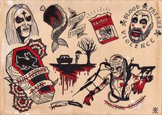 Hey, I found this really awesome Etsy listing at https://www.etsy.com/listing/187995894/house-of-1000-corpses-flash-sheet-print