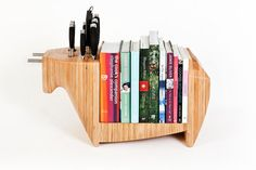 Bull knife block and cookbook holder, love