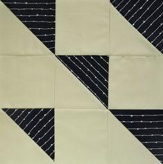 #6 - Modern HST Sampler quilt block Formation