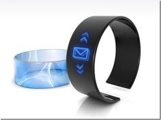 """Personal Life Manager Bracelet. """"The Mercator is part personal data assistant, part health monitor, part GPS, part shopping assistant, and all must-have cutting-edge technology. """""""
