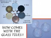 1 inch circle pendant trays - PICK YOUR COLORS - Qty 25  #tracyleslie1  #thecraftstar