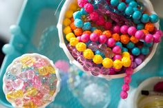 Rainbow Beads | Unicorn Birthday Party Decorations + Party Favors | by Jessica…