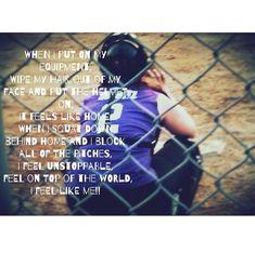 Softball Catcher ~ That is my daughter Softball Chants, Softball Party, Girls Softball, Softball Players, Fastpitch Softball, Softball Stuff, Softball Hair, Softball Pitching, Girls Basketball