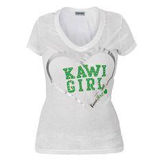 Kawasaki Kawi Girl™ Love Bug Ladies V-Neck T-Shirt | Casual | Jake Wilson