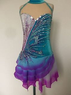 NEW ICE SKATING TWIRLING BATON DRESS CHILD S