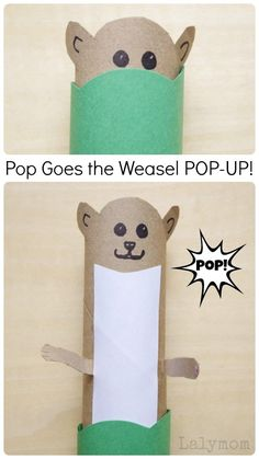 Use a paper towel roll and a few other supplies to make a simple pop goes the weasel pop-up craft for kids from LalyMom! This craft is inspired by the nursery rhyme, which is a classic element to any childhood. Your kids will love this fun and simple activity. Sit down with them one day and do this EASY craft with your kids! #crafts #kidscrafts #craftsforkids #easycrafts #kidsactivities #nurseryrhymes