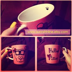 To those who defend and advocate the bully breeds. Hello Pittie Pibull Mug. $13.10, via Etsy.
