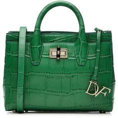 Diane von Furstenberg Embossed Gallery Mini Leather Shoulder Bag