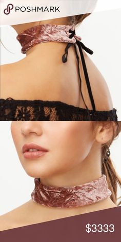 "Velvet Tie Choker ⭐️NEW⭐ Light purple crushed velvet choker with tie closure!                                                                              width: 3.5""/length: 13""                                                    black criss-cross velvet ribbon tie closure           ❌price firm on boutique items unless bundled❌ Jewelry Necklaces"