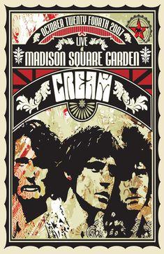 Vintage Music Art Poster - Cream At Madison Square Garden - 0260 Tour Posters, Band Posters, Music Posters, Vintage Rock, Vintage Music, Jimi Hendrix, Hard Rock, Rock And Roll, Vintage Concert Posters