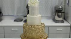 metallic cake decorations - YouTube