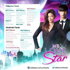 nice Kim Soo Hyun Fans in the Philippines made a remarkable welcome  on 'My Love From The Star' re-run