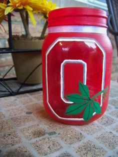 The Ohio State Buckeyes Painted Jar.