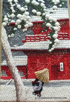 RSN Canvaswork (needlepoint) piece - Second Crafting Needlepoint Stitches, Needlepoint Patterns, Needlepoint Canvases, Cross Stitch Patterns, Needlework, Ribbon Embroidery, Embroidery Stitches, Machine Embroidery, Beaded Crafts