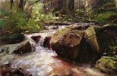 Summer Day by Tibor Nagy Oil ~ 12 x 16