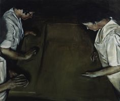 The Lucky Ones, Michaël Borremans, oil on canvas, 2002, Carnegie Museum of Art.