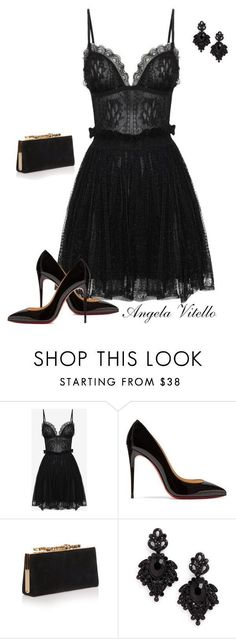 """Untitled #803"" by angela-vitello on Polyvore featuring Alexander McQueen, Christian Louboutin, Jimmy Choo and Tasha #jimmychooheelschristianlouboutin"