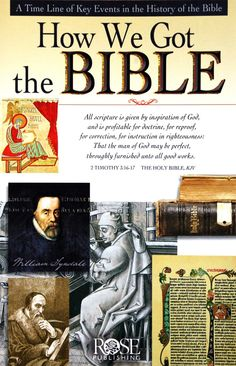 Always Be Ready Apologetics Store - How We Got the Bible: A Timeline of Key Events in the History of the Bible, $4.95 (http://alwaysbeready.mybigcommerce.com/how-we-got-the-bible-pamphlet)